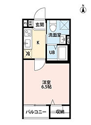 アパッショハート武庫川[1階]の間取り