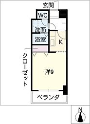 レジデンス新瀬戸[9階]の間取り
