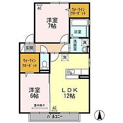 フェリーチェ岩田[2階]の間取り