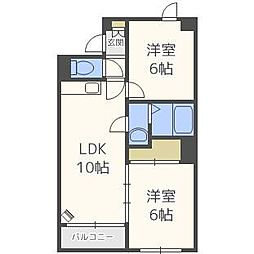 北海道札幌市北区北十一条西2丁目の賃貸マンションの間取り