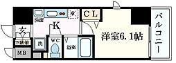 プレサンス堺筋本町フィリア[9階]の間取り