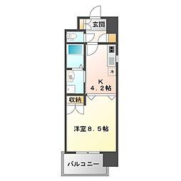 アスリート江坂II番館[2階]の間取り