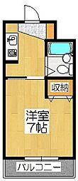 グランディール東寺[3階]の間取り