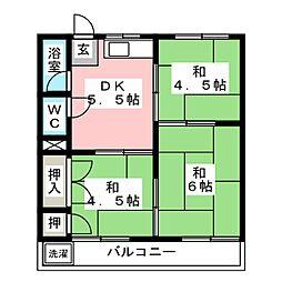 鈴家荘北棟[2階]の間取り