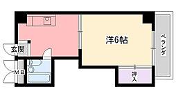 ディア夙川[202号室]の間取り