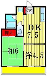 レジデンスおとめ[3階]の間取り