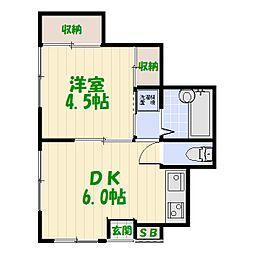 住良荘[0101号室]の間取り