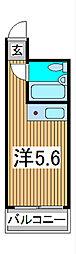 スカイコート西川口第3[6階]の間取り