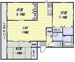 アンソレイユ C棟[1階]の間取り