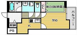 K−FLAT[304A号室]の間取り