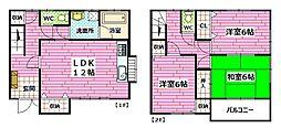 [テラスハウス] 広島県広島市安佐南区長束1丁目 の賃貸【/】の間取り