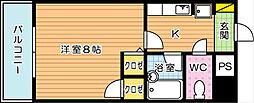 アンデックス折尾[2階]の間取り