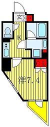 都営三田線 板橋本町駅 徒歩7分の賃貸マンション 4階1Kの間取り