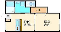 池美マンション[2階]の間取り