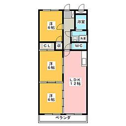 リヴィオン[2階]の間取り