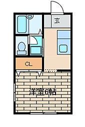 La mia casa 古淵[202号室]の間取り