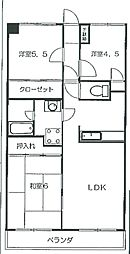 メゾンドカナール[203号室]の間取り