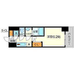 エスリード新大阪ヴェルデ 4階1Kの間取り