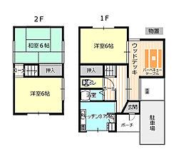 [一戸建] 奈良県奈良市学園朝日町 の賃貸【/】の間取り