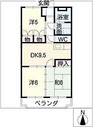 日栄マンションII[3階]の間取り