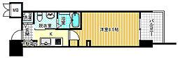 エステムプラザ梅田中崎町IIIツインマークス ノースレジデンス 2階1Kの間取り