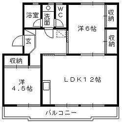 スヤマコーポI[403号室]の間取り