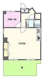 桜川レックスマンション[1階]の間取り