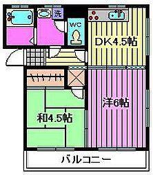 CORPORATE北栄[1階]の間取り