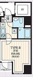 東京メトロ日比谷線 築地駅 徒歩9分の賃貸マンション 5階1Kの間取り