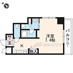 阪急京都本線 南茨木駅 徒歩1分の賃貸マンション 9階ワンルームの間取り