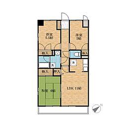 緑の森ハウス[2階]の間取り
