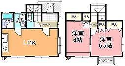 メゾニティ・梅ヶ丘 A〜F棟[D-1号室]の間取り