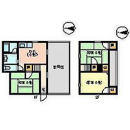 [一戸建] 徳島県徳島市名東町3丁目 の賃貸【徳島県 / 徳島市】の間取り