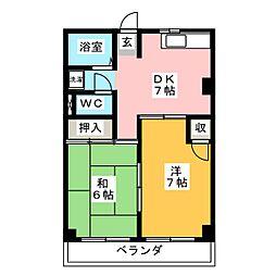 ニュー幸田プラザ[3階]の間取り