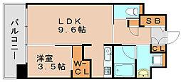 アルファシオディクレーヴ[6階]の間取り