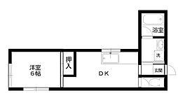 コーポラスファミーユ[2階]の間取り