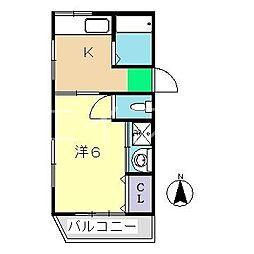 渡辺ビル(吉田町)[3階]の間取り