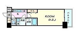 コンフォリア京町堀[10階]の間取り
