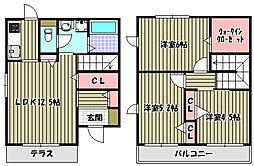 [テラスハウス] 大阪府堺市西区上野芝町1丁 の賃貸【/】の間取り