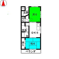 中央ヴィレッジS・H[3階]の間取り