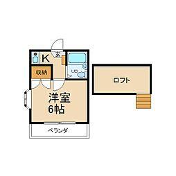 大阪府枚方市走谷2丁目の賃貸アパートの間取り