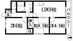 ドエル仁川[2階]の間取り