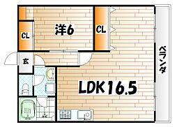 ディアライフ赤坂[1階]の間取り