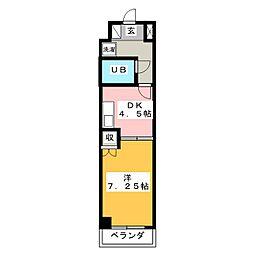 クリオ焼津壱番館[4階]の間取り