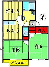 クレフォート松戸[2階]の間取り