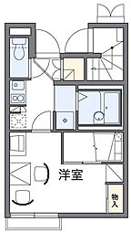 東京都府中市押立町4丁目の賃貸アパートの間取り