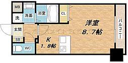 プレサンス心斎橋モデルノ[10階]の間取り