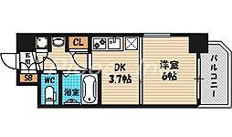 レジュールアッシュ梅田レジデンス[4階]の間取り