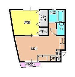 ハイツH2O II[2-L号室]の間取り