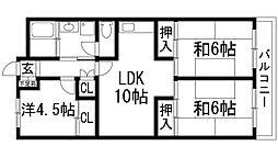 兵庫県宝塚市宮の町の賃貸マンションの間取り